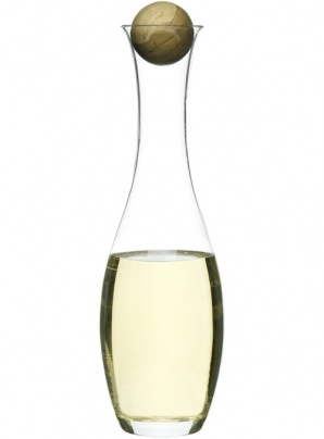 White Wine/water carafe with oak stopper
