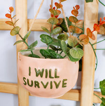 Hanging Planter 'I Will Survive'
