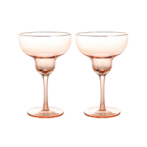 Glass margarita set of 2