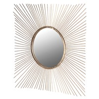 Gold Square Spiky Mirror