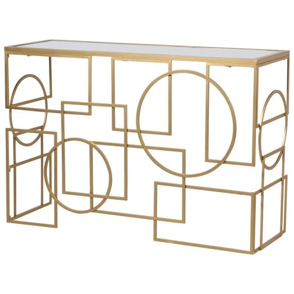 Geometric Shapes Console Table
