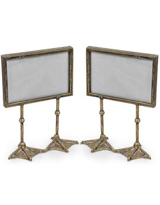 Antique silver/pewter duck feet photo frame