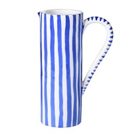 Blue and White Stripe Jug