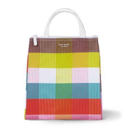 kate spade new york lunch bag, rainbow plaid