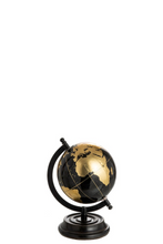 Black and gold globe