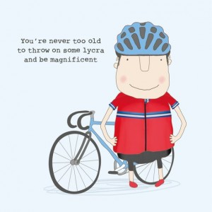 Rosie Birthday Card Lycra Boy
