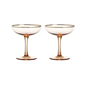 Coupe champagne pink set of 2