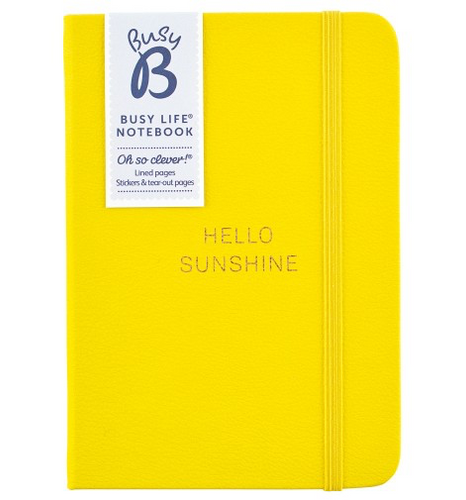 BusyB - NOTEBOOK - A6 FAUX YELLOW