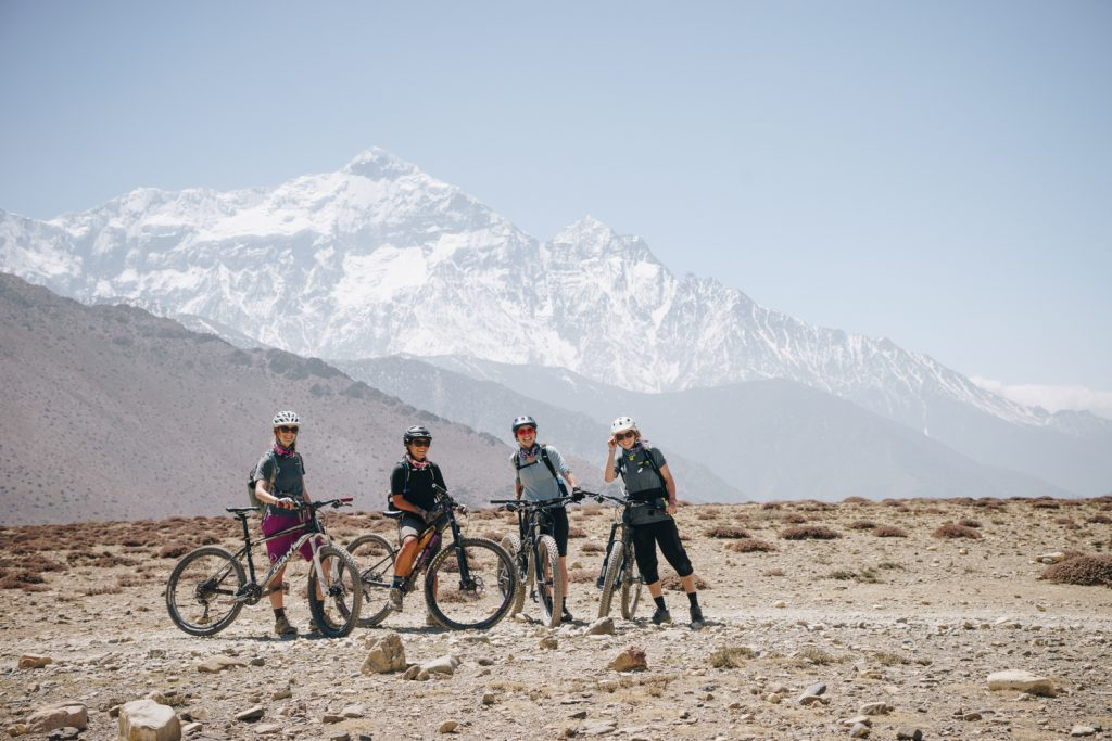 Four women bike through Nepal in pursuit of goats