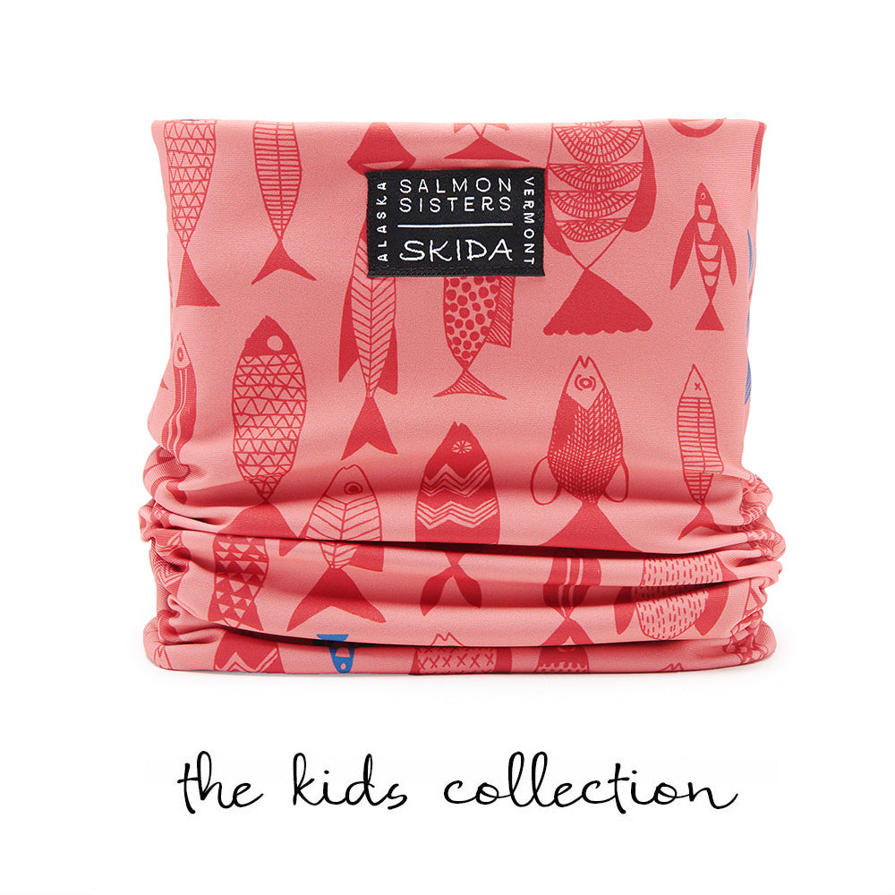 Salmon Sisters | Red Fish | Alpine Neckwarmer | Kids