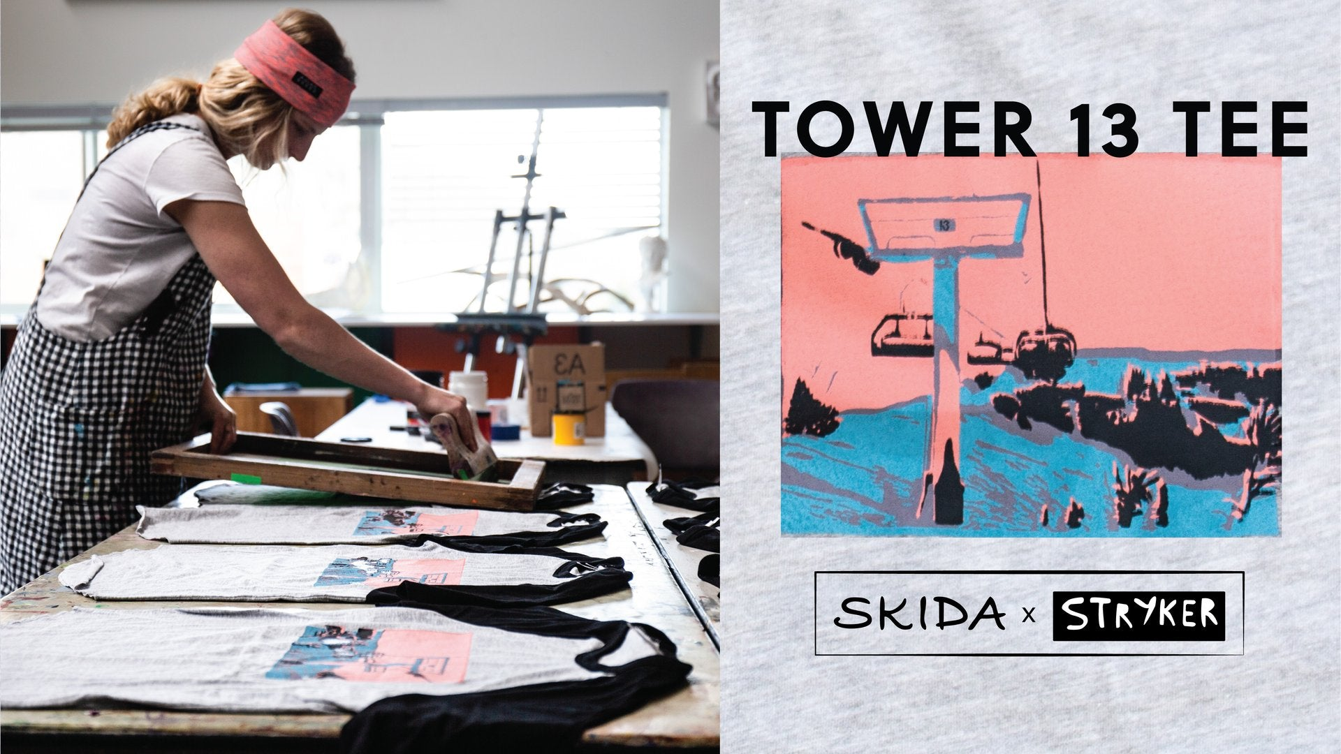 Shop our new handprinted Tower 13 Tee!