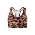 Pink Stone Camo Back Color Sports Bra