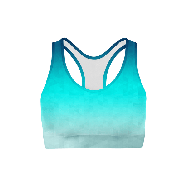 Riptide Triangles Color Back Sports Bra