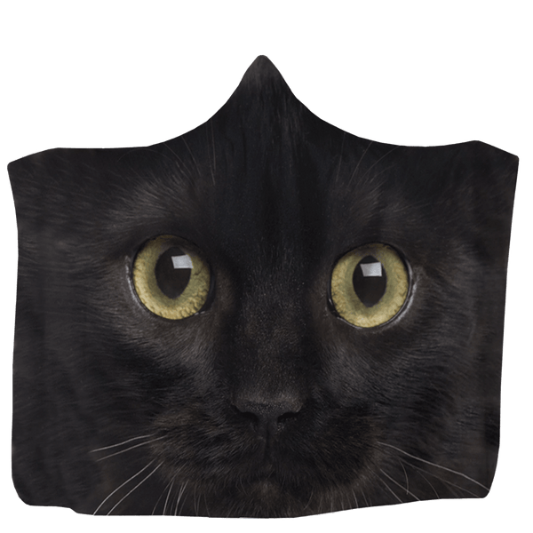 USA Made Dropship Hooded Blanket 80x60 / Muliticolored Black Cat Hooded Blanket HB0890