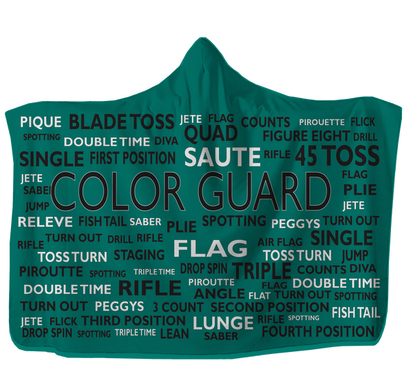 USA Made Dropship Hooded Blanket 80x60 / Muliticolored Colorguard Hooded Blanket Choose Your Color HB0884
