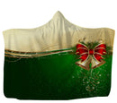 USA Made Dropship Hooded Blanket 80x60 / Muliticolored Holiday Bells Hooded Blanket HB0892