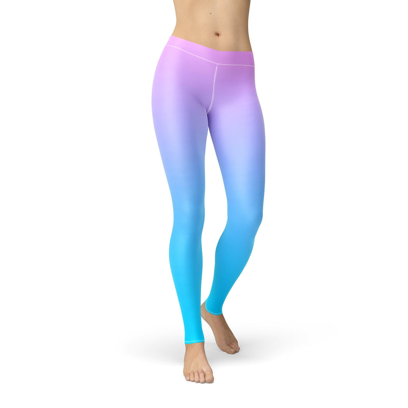 USA Made Dropship Leggings Avery Pink Blue Ombre