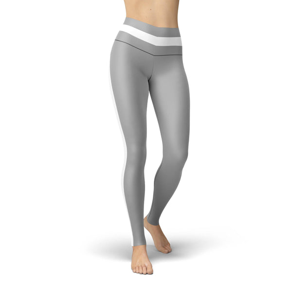 USA Made Dropship Leggings Beverly Grey Striped