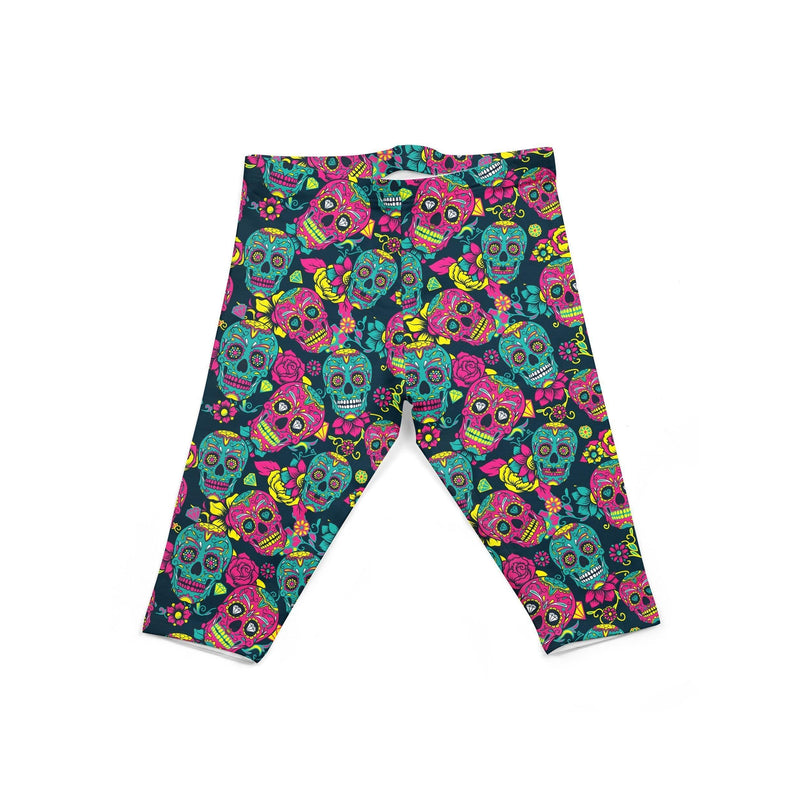 USA Made Dropship Leggings Default Title / Multi-Colored Infant Colorful Sugar Skulls INON1BUMC20