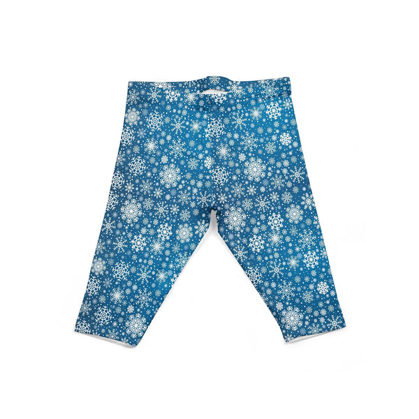 USA Made Dropship Leggings Default Title / Blue Infant Dark Blue Snowflake INLGBUMC1