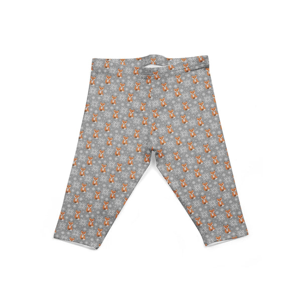 USA Made Dropship Leggings Default Title / Gray Infant Holiday Fox INON1BUMC3