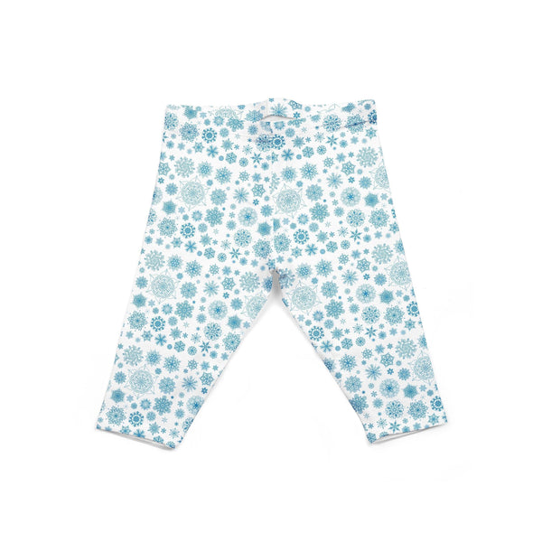 USA Made Dropship Leggings Default Title / White Infant Light Blue Snowflake INON1BUMC8