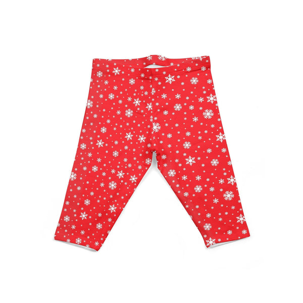 USA Made Dropship Leggings Default Title / Red Infant Red Snowflake INON1BUMC5