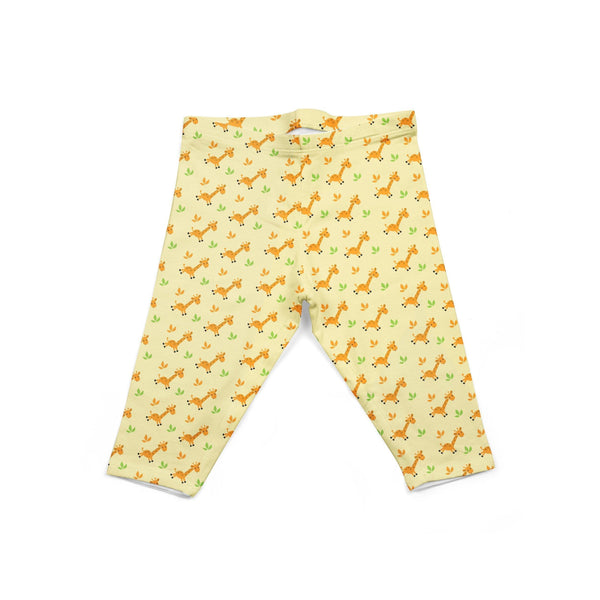 USA Made Dropship Leggings Default Title / Yellow Infant Yellow Giraffes INON1BUMC14