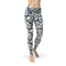 USA Made Dropship Leggings XS / Multicolored Jean Athletic Black White Skulls JAL0619-XS-MUL