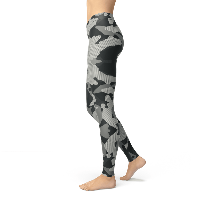 USA Made Dropship Leggings Jean Athletic Digital Grey Camo