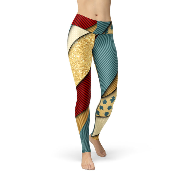 USA Made Dropship Leggings XS / Multicolored Jean Athletic Golden Present JAL0603-XS-MUL