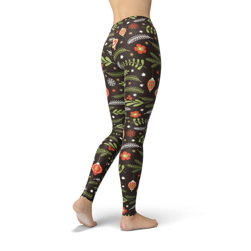 USA Made Dropship Leggings Jean Athletic Holiday Branches