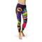 USA Made Dropship Leggings XS / Multicolored Jean Athletic Mardi Gras JAL0610-XS-MUL