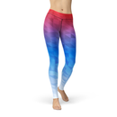 USA Made Dropship Leggings XS / Multicolored Jean Athletic Mixed Triangles JAL0629-XS-MUL