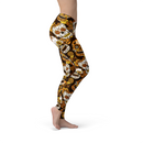 USA Made Dropship Leggings Jean Athletic Orange Sugar Skulls