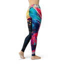 USA Made Dropship Leggings Jean Athletic Paint Stroke