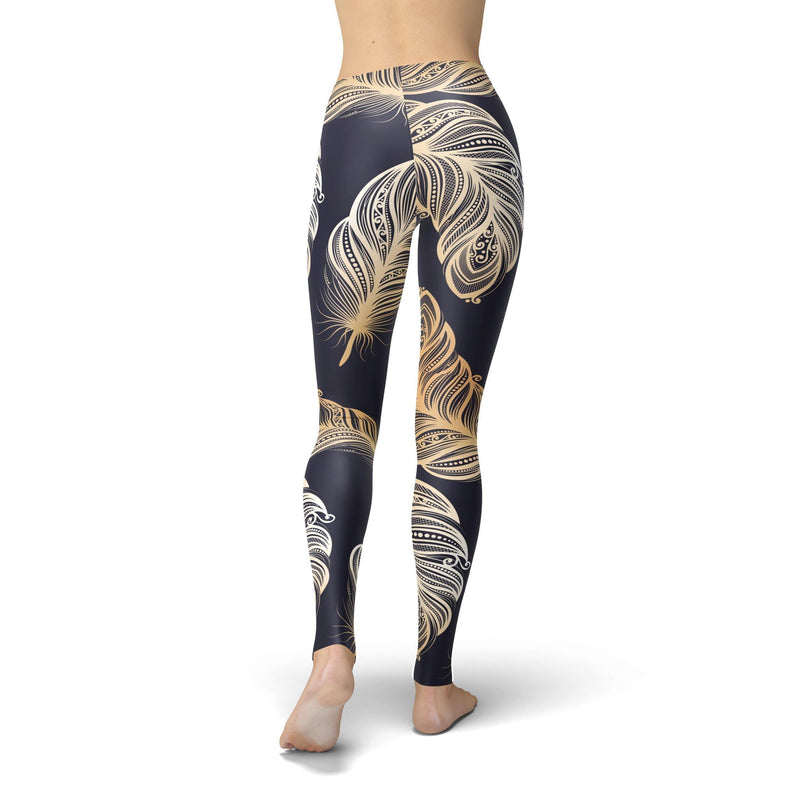 USA Made Dropship Leggings Jean Athletic Peacock Feathers