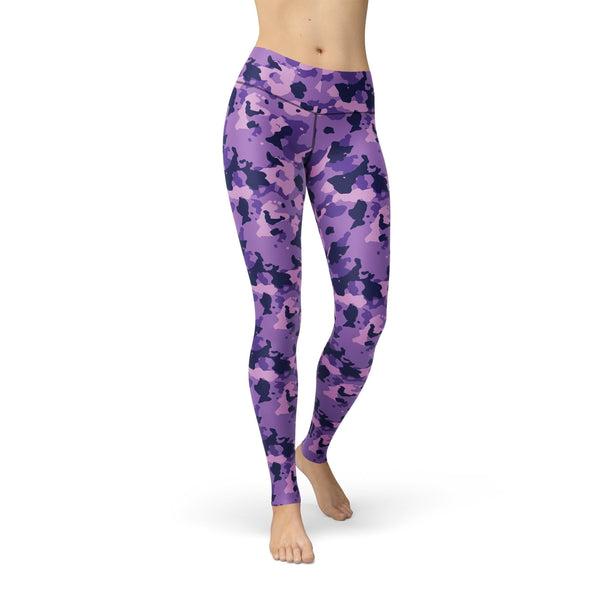 USA Made Dropship Leggings XS / Purple Jean Athletic Purple Camouflage JAL0763-XS-PUR