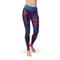 USA Made Dropship Leggings XS / Multicolored Jean Athletic Purple Twinkle JAL0607-XS-MUL