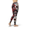 USA Made Dropship Leggings Jean Athletic Red and Black Sugar Skulls