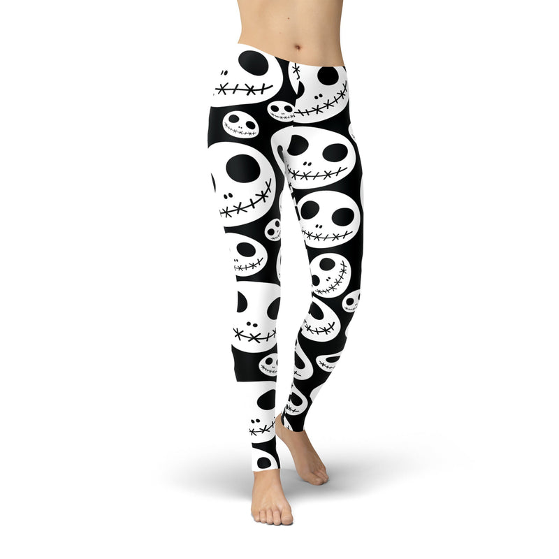 USA Made Dropship Leggings XS / Black Jean Athletic Skeleton Jacks JAL0558-XS-BLA