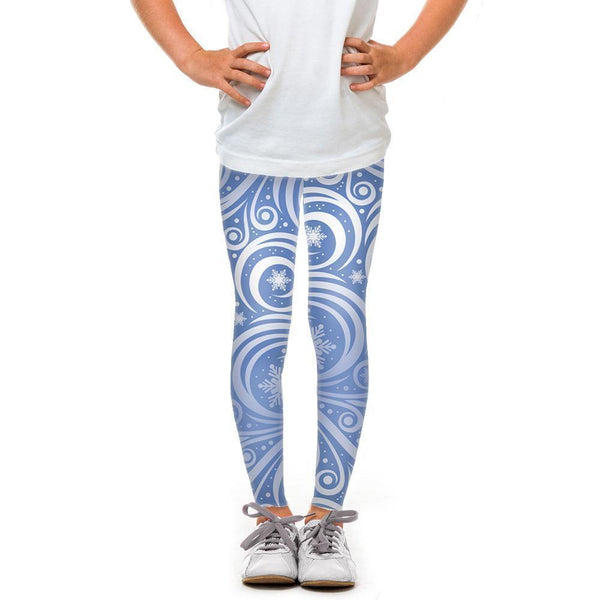 USA Made Dropship Leggings Default Title / Blue Youth Blue Winter Swirl YLG1BUMC11