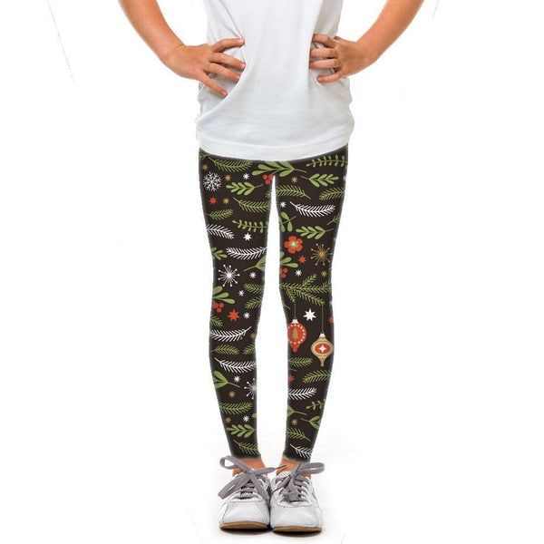 USA Made Dropship Leggings Default Title / Black Youth Holiday Branches YLG1BUMC23
