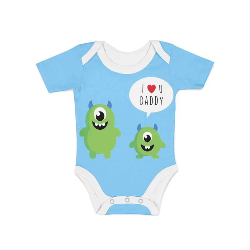 USA Made Dropship Onesie Infant Monster and Daddy Onesie