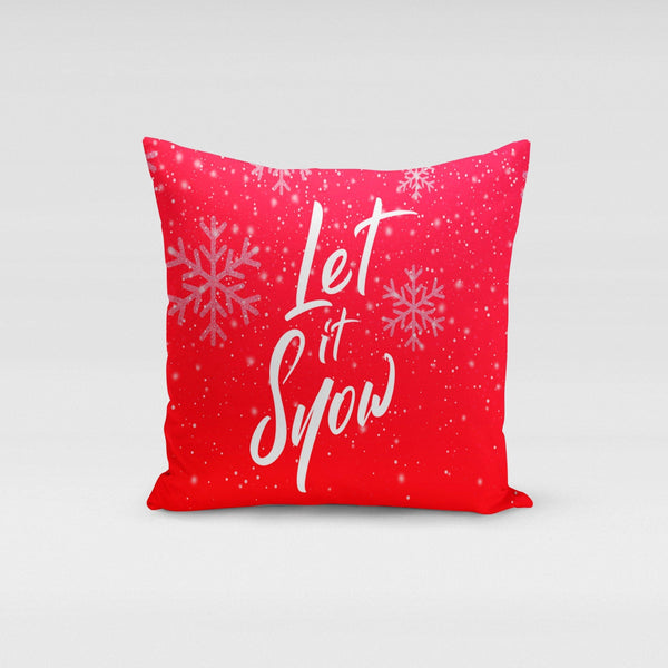 USA Made Dropship Pillow Let It Snow Pillow Cover