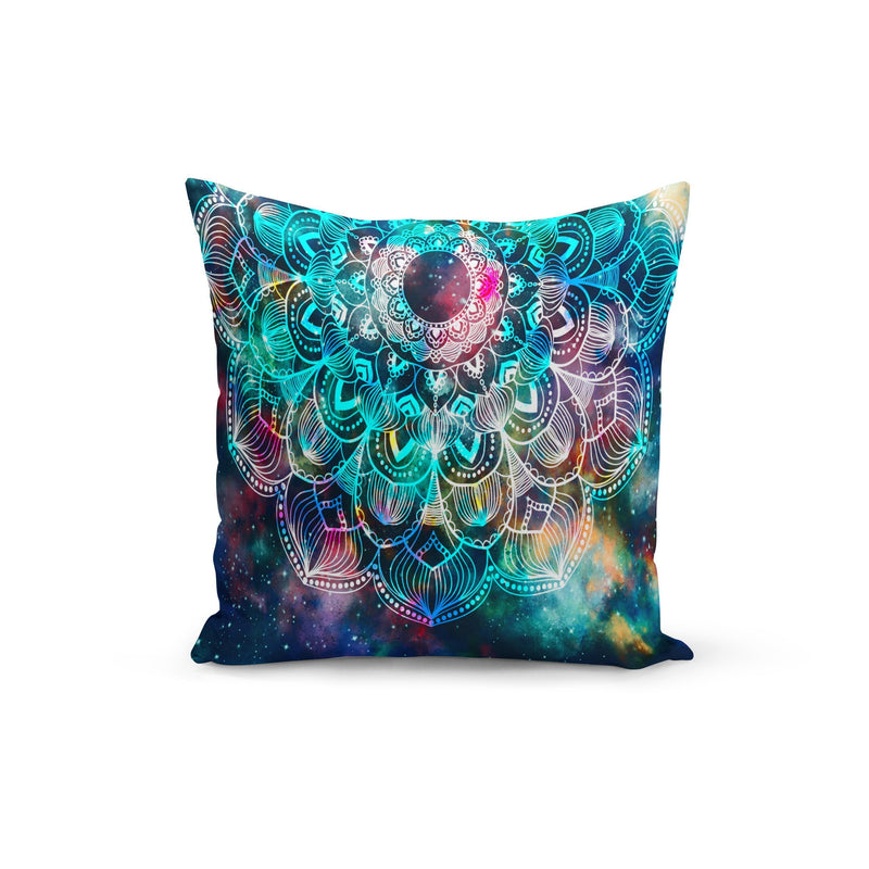 USA Made Dropship Pillow 12x16 / Multicolored Rainbow Mandala Pillow Cover PC0232-12X-MUL