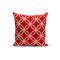 USA Made Dropship Pillow 12x16 / Multicolored Red Circle Interlock Pillow Cover PC0233-12X-MUL