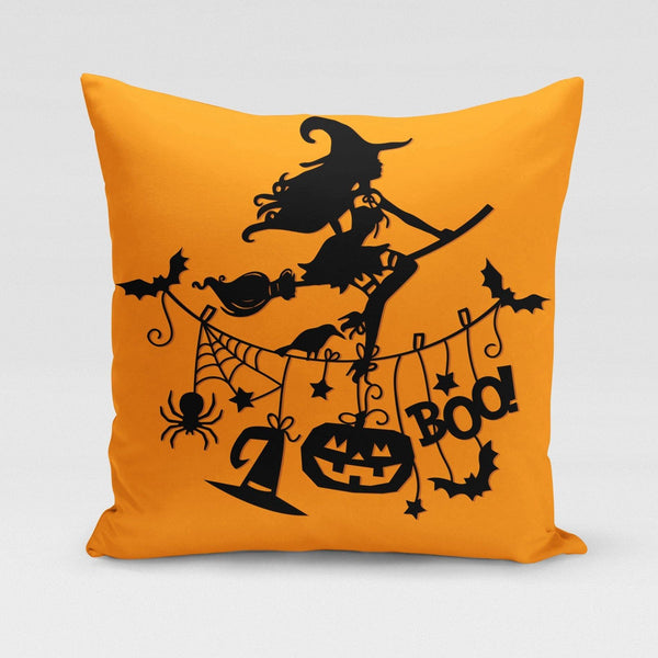 USA Made Dropship Pillow 12x16 / Multicolored Sexy Witch Boo! Pillow Cover PC0347-12X-MUL