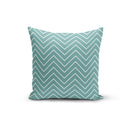 USA Made Dropship Pillow 12x16 / Multicolored Teal White Zigzag Pillow Cover PC0228-12X-MUL