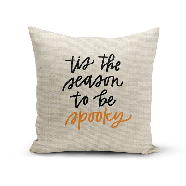USA Made Dropship Pillow 12x16 / Multicolored Tis the Season to be Spooky Pillow Cover PC0347-12X-MUL